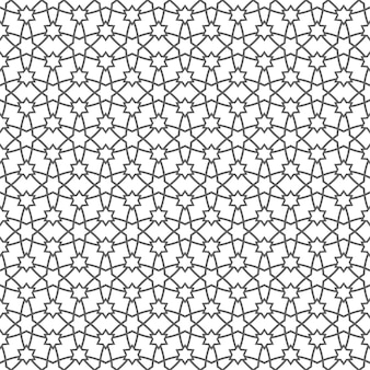 Motif géométrique sans couture avec étoiles en style arabe