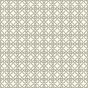 Motif géométrique sans couture avec fleurs abstraites
