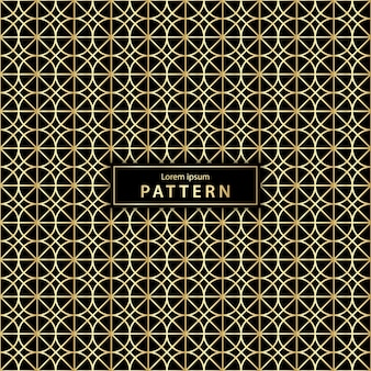 Motif géométrique sans couture de luxe