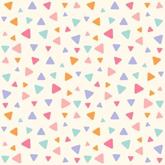 Motif géométrique sans couture avec des triangles, motif sans couture avec fond de triangles colorés