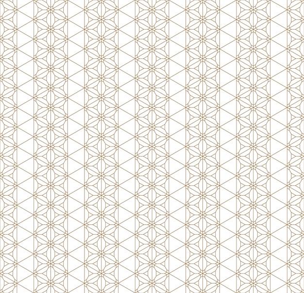Motif géométrique sans soudure basé sur l'ornement japonais kumiko.
