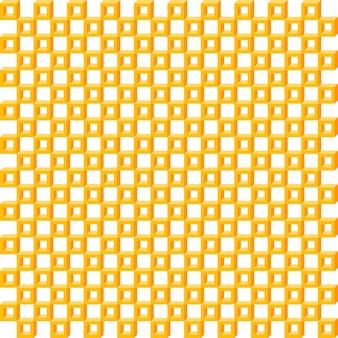 Motif géométrique, sans soudure carré simple texture 3d isométrique orange