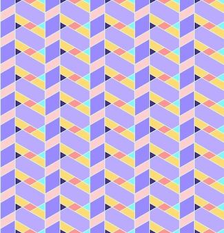 Motif géométrique sans soudure avec ligne, losange, trapézoïde et triangle.