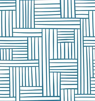 Motif géométrique sans soudure de vecteur. illustration abstraite en couleur bleue