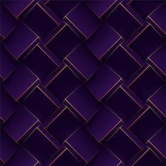 Motif géométrique sans soudure violet foncé