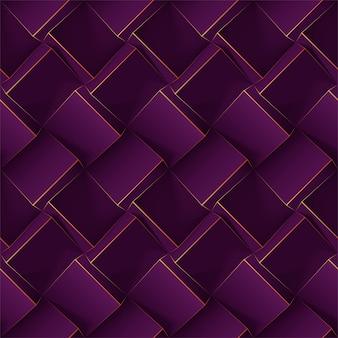 Motif géométrique sans soudure violet foncé.