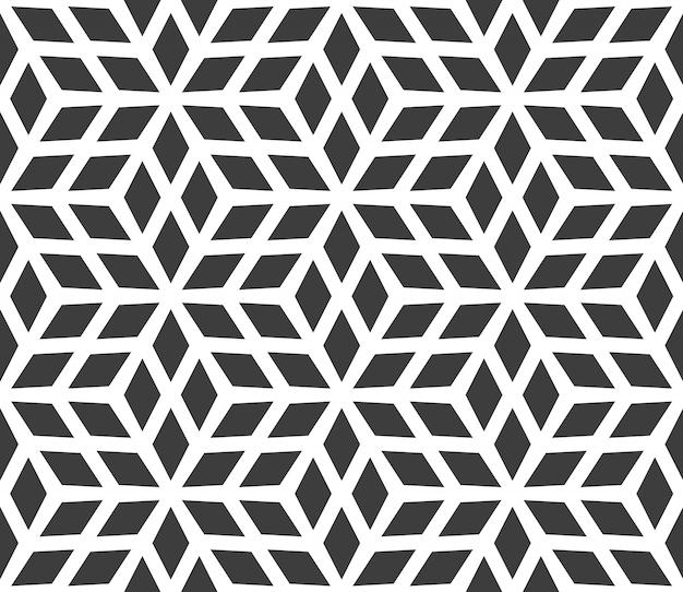 Motif géométrique seseamless composé de diamants.