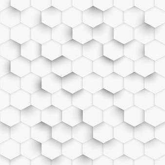 Motif géométrique à six pans creux
