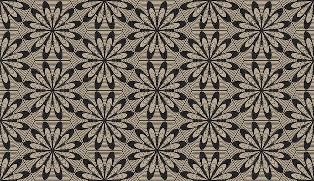 Motif géométrique de style zentangle