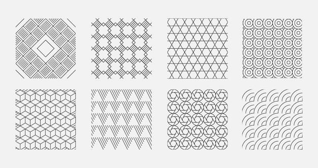 Motif géométrique. la technologie des milieux numériques abstraits encadre des illustrations vectorielles de formes technologiques. motif géométrique abstrait, ligne de papier peint graphique