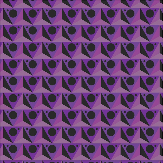 Motif géométrique triangle violet
