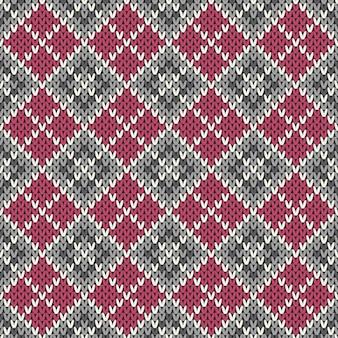 Motif géométrique tricoté sans couture