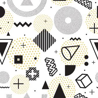 Motif géométrique vectorielle continue