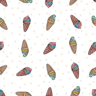 Motif de glace doodle