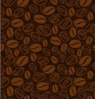 Motif de grains de café