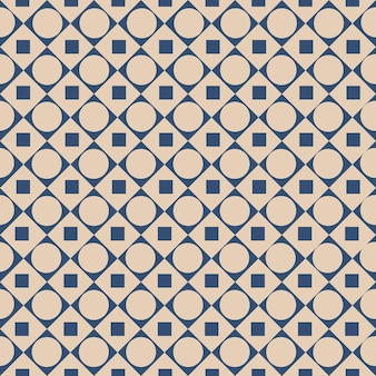 Motif graphique sans couture avec des formes abstraites de carrés et de cercles