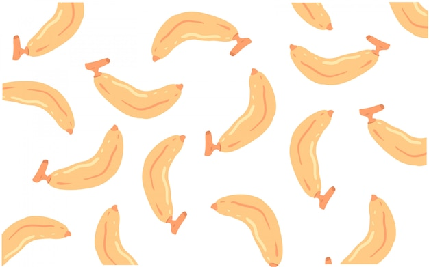 Motif griffonnage banane
