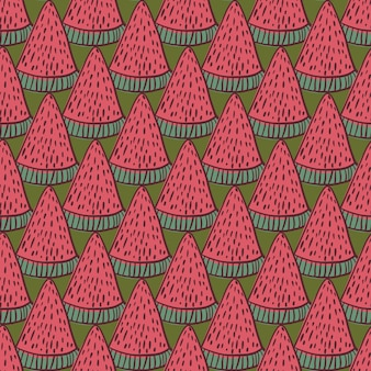 Motif de griffonnage sans couture avec pastèque