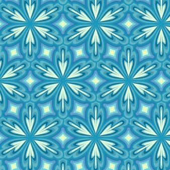 Motif groovy bleu géométrique