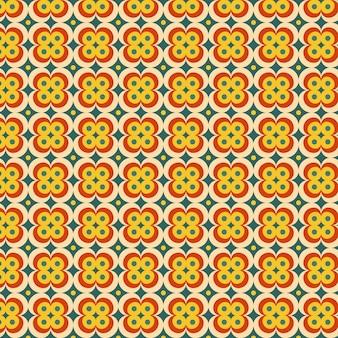 Motif groovy géométrique coloré
