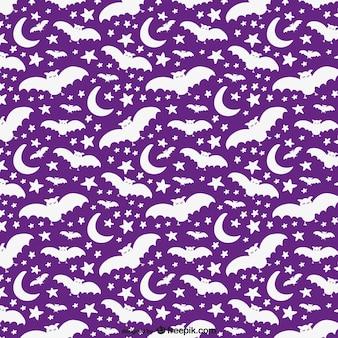 Motif de halloween blanc et violet