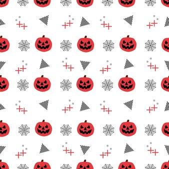 Motif halloween sans couture avec citrouille à la mode