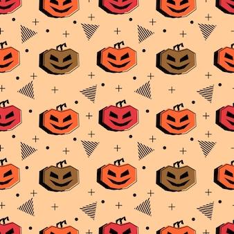 Motif halloween sans couture avec hipster multicolore