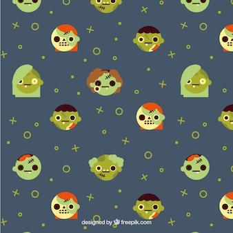 Motif halloween avec des zombies