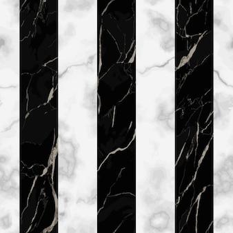 Motif harmonieux de marbre à rayures noires et blanches répétez l'arrière-plan moderne de la surface de marbrage