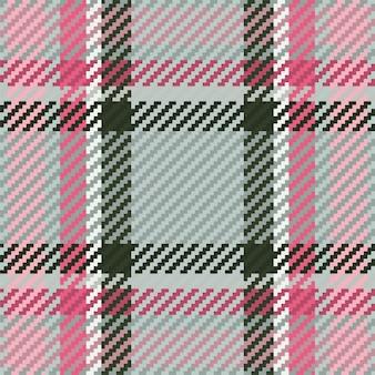 Motif harmonieux de tartan à carreaux en vecteur pour l'impression de chemises, motifs jacquard, graphiques textiles