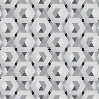 Motif hexagonal 3d gris