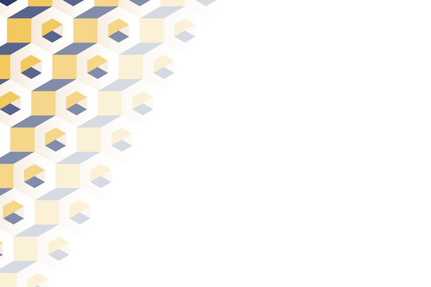 Motif hexagonal 3d multicolore