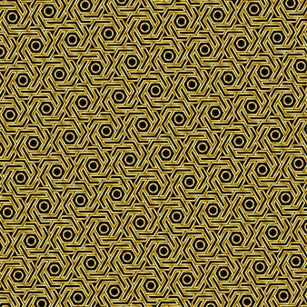 Motif hexagonal doré