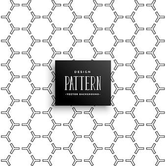 Motif hexagonal élégant