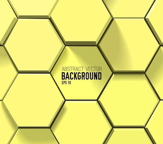 Motif hexagonal géométrique jaune