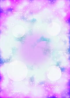 Motif hipster. composition lumineuse ronde. affiche rétro. contexte numérique. forme liquide. points simples. conception de lumière violette. flyer dynamique. motif hipster violet