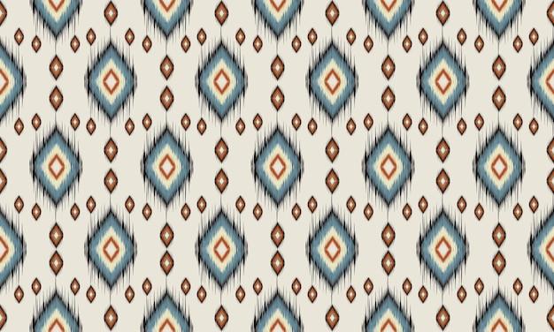 Motif Ikat Oriental Ethnique Géométrique Traditionnel Vecteur Premium