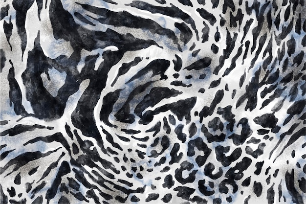 Motif imprimé animal aquarelle