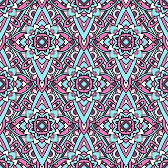 Motif indigène tribal coloré, style de contour