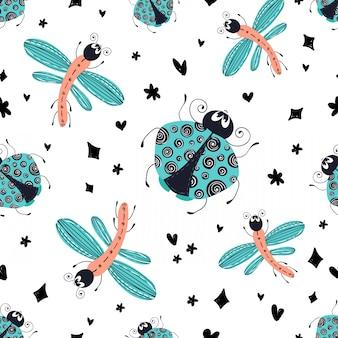 Motif d'insecte