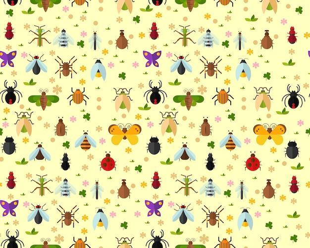 Motif d'insectes