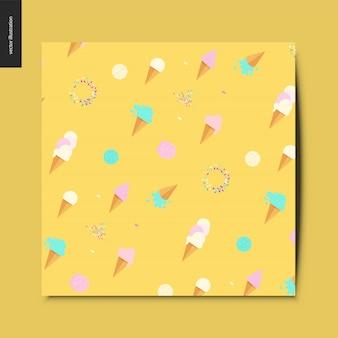 Motif jaune crème glacée