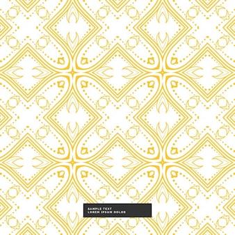 Motif jaune sur un fond blanc