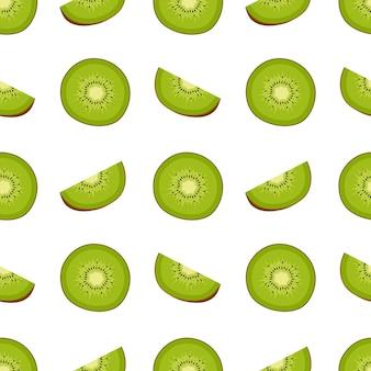 Motif kiwi sans soudure, illustration vectorielle