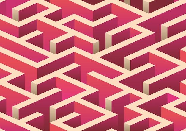 Motif de labyrinthe sans soudure isométrique.