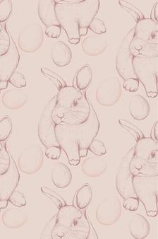 Motif de lapin