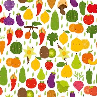Motif de légumes mignon