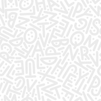 Un motif de lettres de l'alphabet anglais dans un ordre aléatoire. illustration vectorielle.