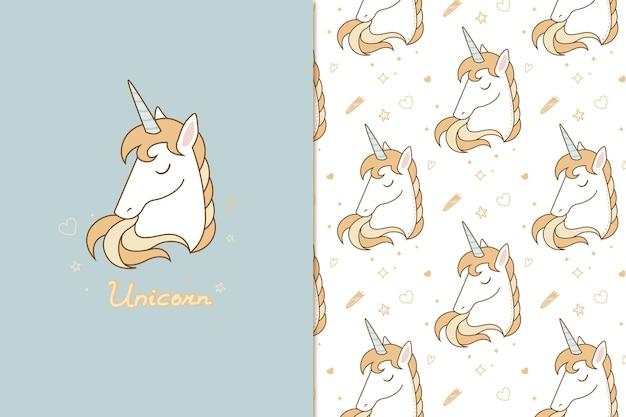 Motif de licorne magique