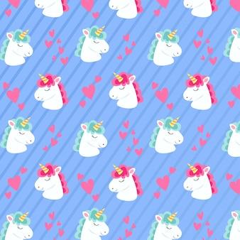 Motif de licorne mignon dessiné à la main